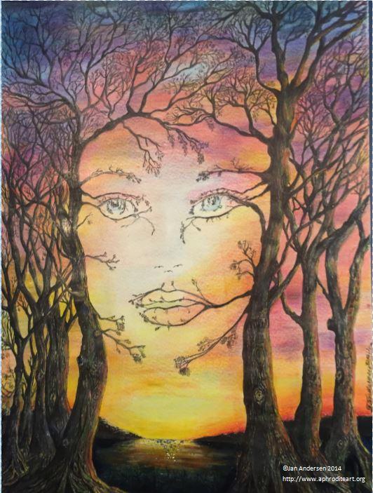 Image of: Paint Wallpapersae Aphrodite Art Nature